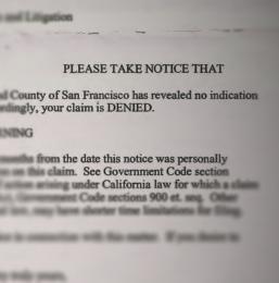 City Denies Claim, dated June 2, 2014