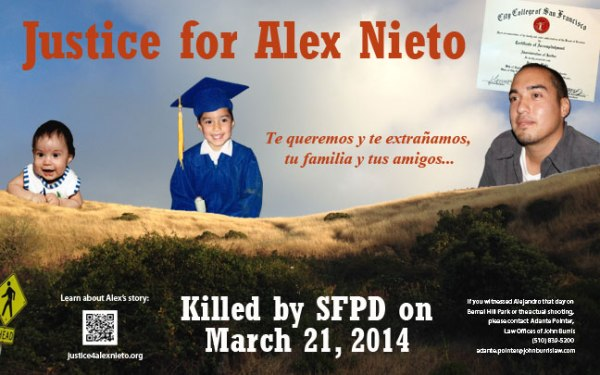 New Justice for Alex Nieto Banner!
