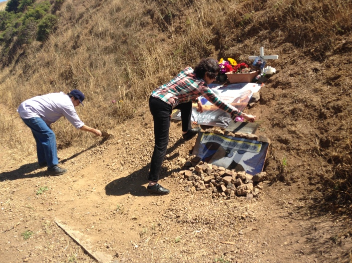 Refugio & Elvira work tirelessly to maintain a memorial to their son at the site of his killing.