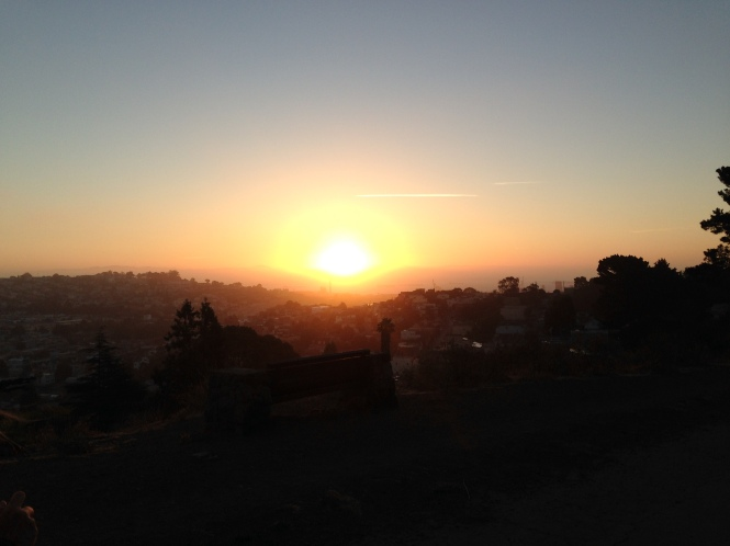 Sunrise over the Bay from Bernal Hill