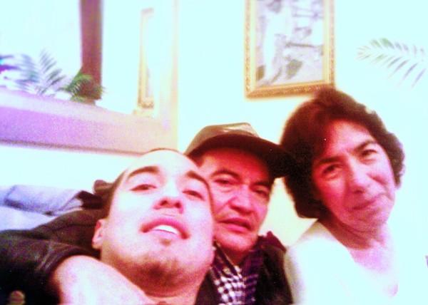 Selfie by Alex with parents Refugio & Elvira