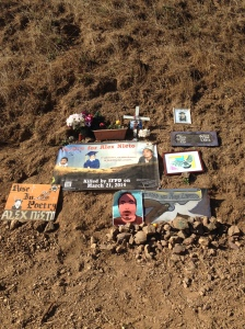 Memorial site recovered, again, Aug. 31st, 2014