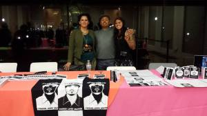 Adriana, Ben & Nina take issue with police brutality at the Issues Fair at the de Young.