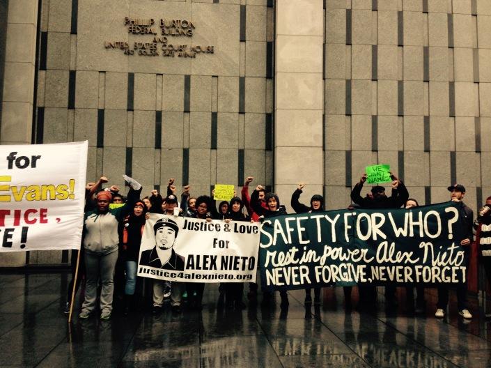 June Jordan students in solidarity with Justice & Love for Alex Nieto! 12.3.2014