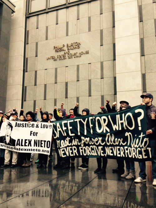 """We Want Names!"" Protesters in front of the Federal Courthouse, 12.3.2014"