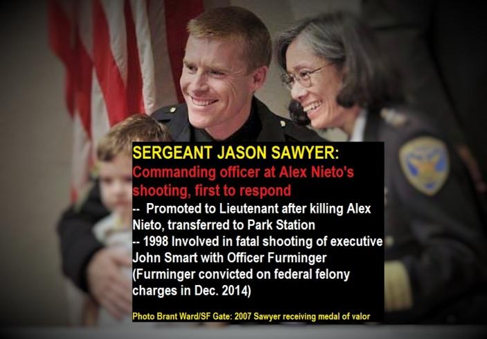Jason Sawyer receives medal of valor. Photo Credit: Sf Gate, Brant Ward