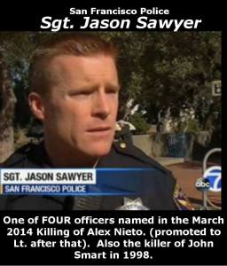 Sgt. (now Lt.) Sawyer, photo posted by California's Deadliest Cops on Facebook